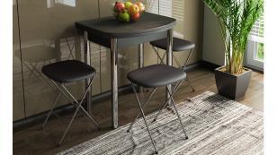 Стол обеденный с хромированными ножками Лион (мини)