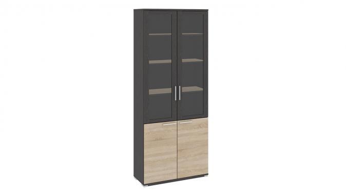 Шкаф для документов с 2-мя дверями со стеклом «Успех-2» ПМ-184.17