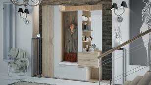 Вешалка комбинированная с крючками и зеркалом «Эрика»