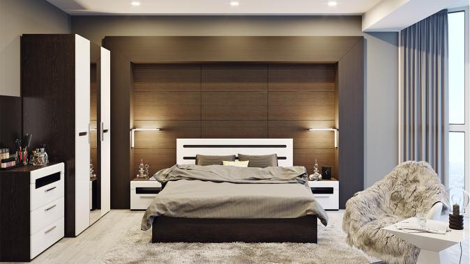 Двуспальная кровать Фьюжн
