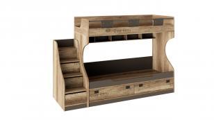 Кровать двухъярусная с приставной лестницей Пилигрим