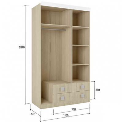 Шкаф 3-х створчатый Стиль 25 (1150)
