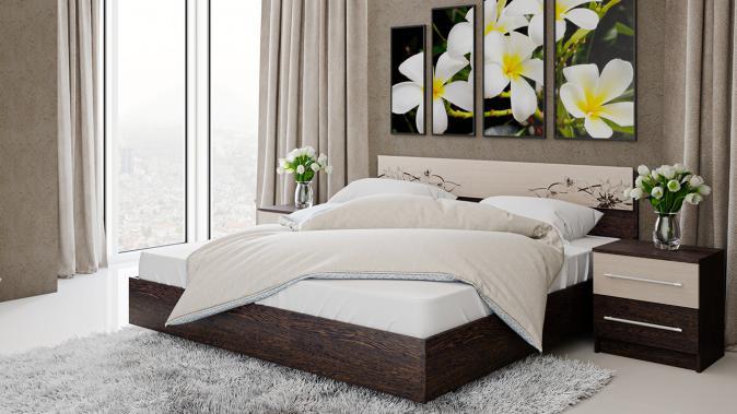 Кровать двуспальная «Мишель» 1,6м