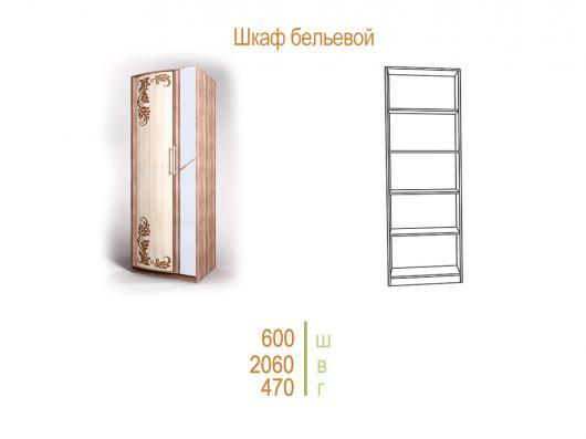 Шкаф бельевой«Кристина-3» с фотопечатью