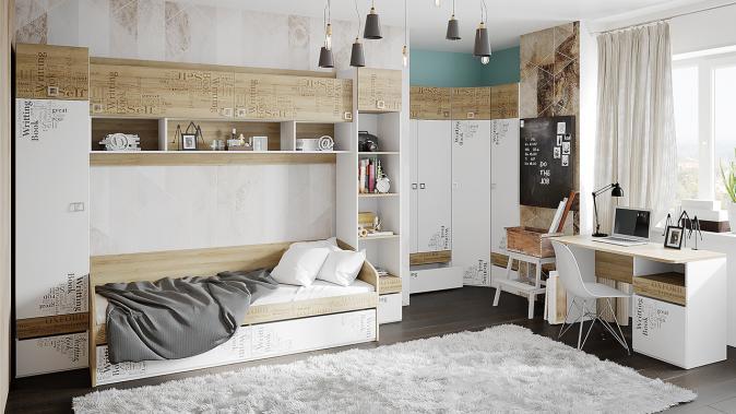 Кровать с 2 ящиками «Оксфорд» ТД-139.12.01