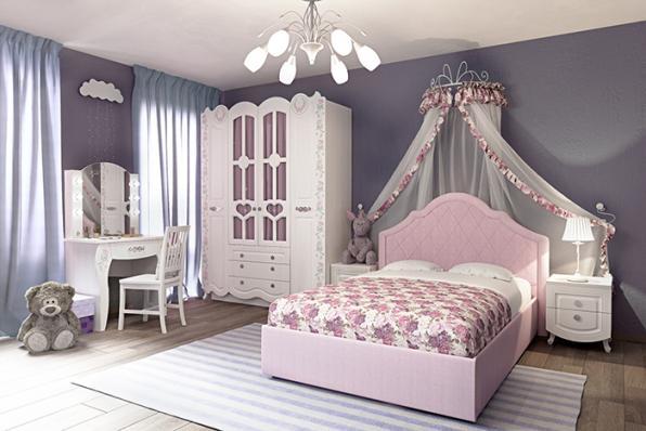 Кровать мягкая «Розалия» №1200М с ортопедом