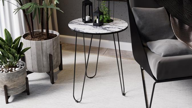 Стол со стеклянной поверхностью ДП 1-03-09 (журнальный)