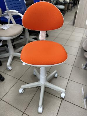 Кресло Стар пл. белый TW (оранжевая)