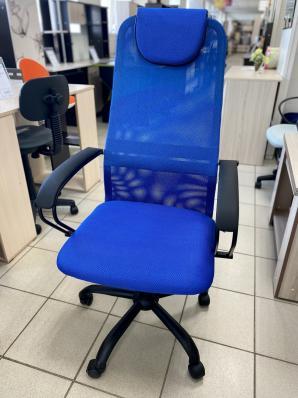 Кресло AV 142 ML (142) МК кз/TW-сет/сет черн/синяя