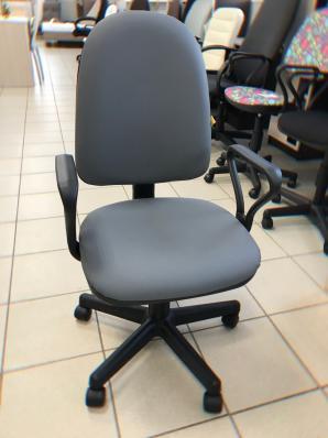 Кресло Престиж Самба к/з серый