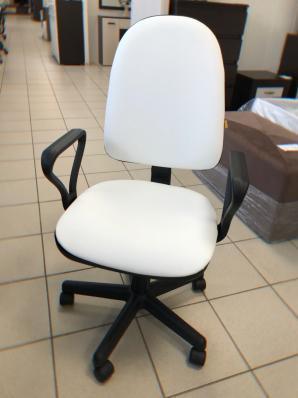 Кресло Престиж Самба к/з белый